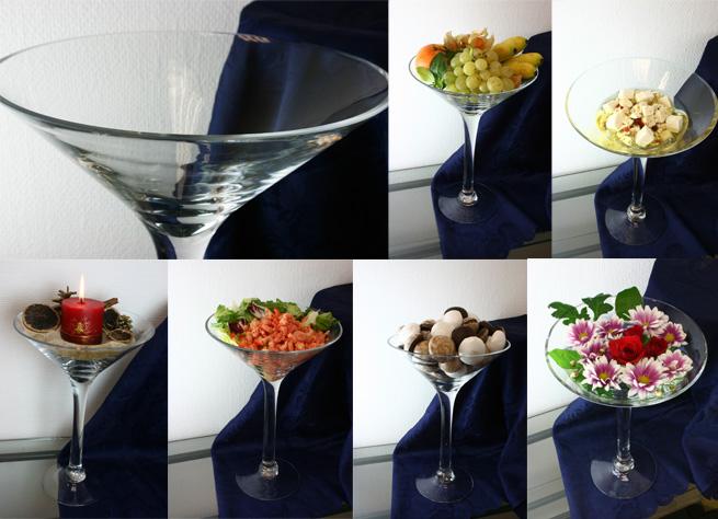 schalenset 2tlg de luxe gro e martini glas schale 34. Black Bedroom Furniture Sets. Home Design Ideas